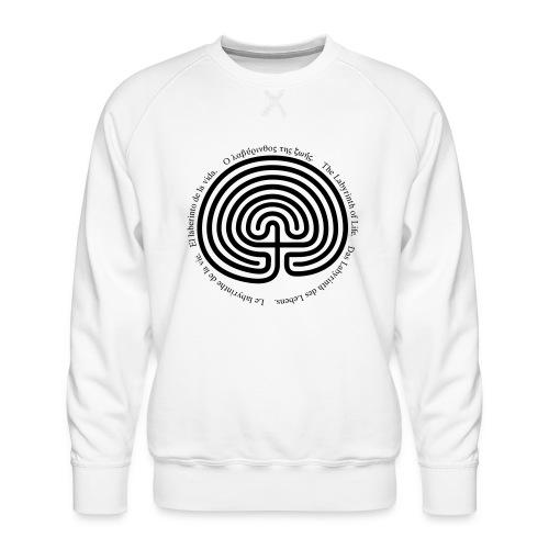 Labyrinth tria - Männer Premium Pullover