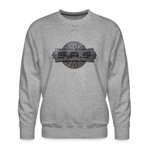 metal background scratches surface 18408 3840x2400 - Mannen premium sweater