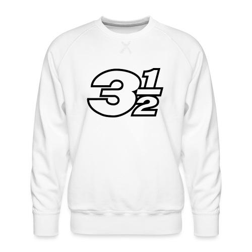 Three and a Half Logo - Men's Premium Sweatshirt