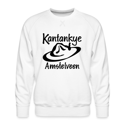logo naam hoed amstelveen - Mannen premium sweater