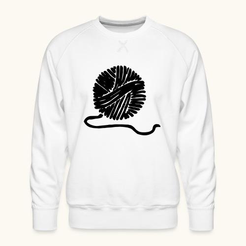 Farbe anpassbar Wollknäuel Vektor Lustig Geschenk - Sweat ras-du-cou Premium Homme