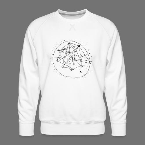 SEO-strategi No.1 (sort) - Herre premium sweatshirt
