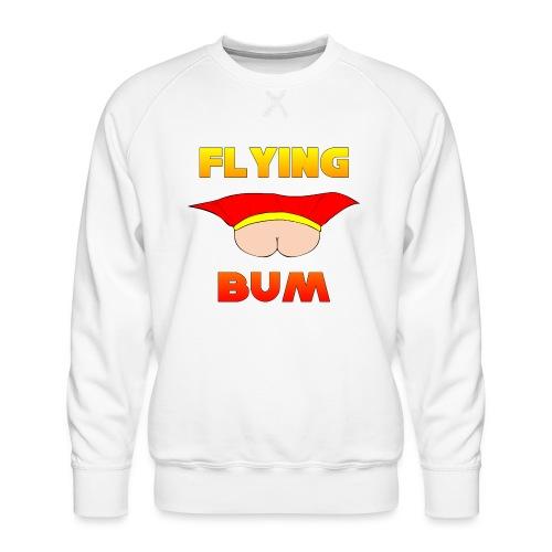 Flying Bum (face on) with text - Men's Premium Sweatshirt