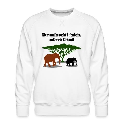Niemand braucht Elfenbein, außer ein Elefant! - Männer Premium Pullover