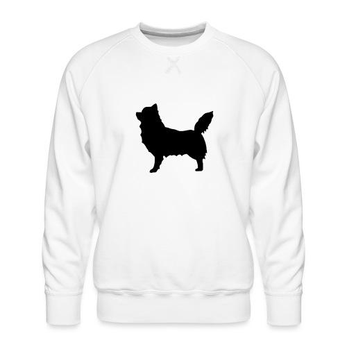 Chihuahua pitkakarva musta - Miesten premium-collegepaita
