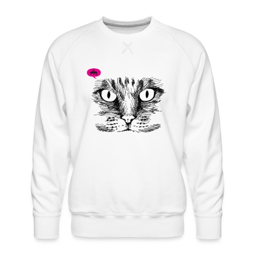 kattegezicht vdh - Mannen premium sweater