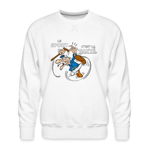 Agecanonix - Le sport c'est la santé. - Sweat ras-du-cou Premium Homme