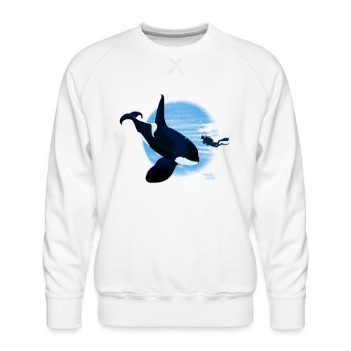 Orca en dappere duiker - Sweat ras-du-cou Premium Homme
