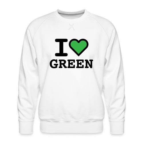 i-love-green-2.png - Felpa premium da uomo