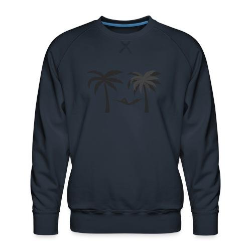 Hängematte mitzwischen Palmen - Männer Premium Pullover