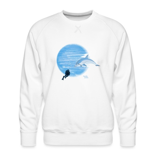 Dolphin and diver - Maillots - Sweat ras-du-cou Premium Homme