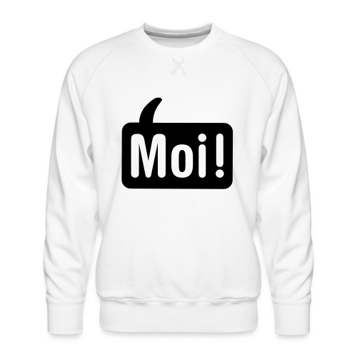 hoi shirt front - Mannen premium sweater