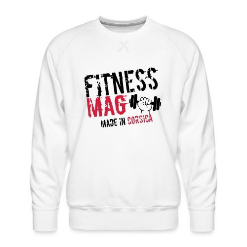 Fitness Mag made in corsica 100% Polyester - Sweat ras-du-cou Premium Homme