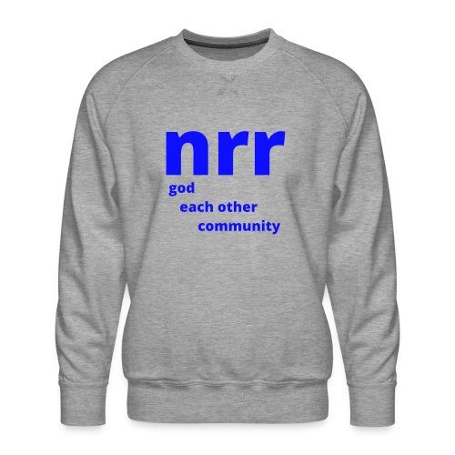 NEARER logo - Men's Premium Sweatshirt