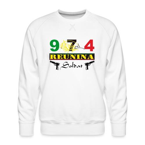 Logo fier d'etre kreol 974 ker kreol - Rastafari - Sweat ras-du-cou Premium Homme