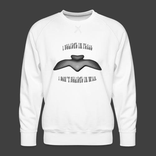 I believe in peace 4 png - Men's Premium Sweatshirt