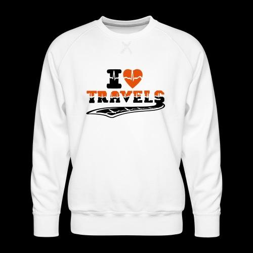 i love travels surprises 2 col - Men's Premium Sweatshirt