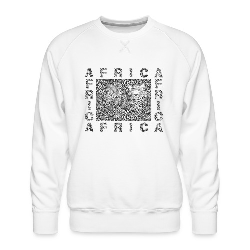 Background Leopard and text Africa - Männer Premium Pullover