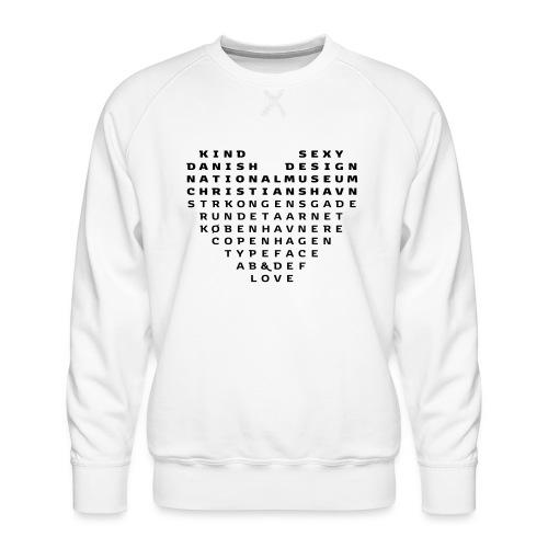 Copenhagen Heart - Herre premium sweatshirt