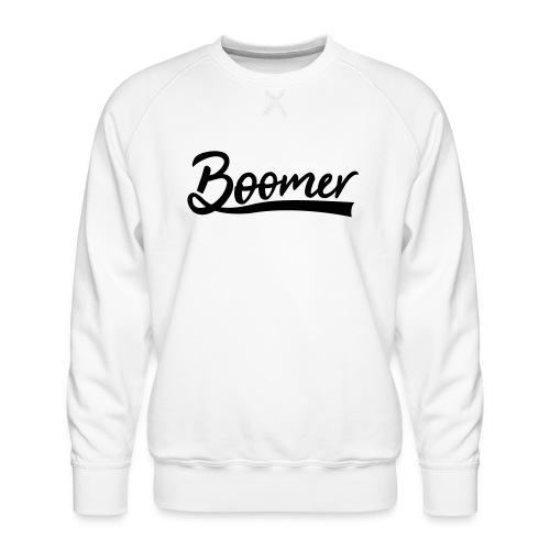 Boomer with 1 editable text color - Miesten premium-collegepaita