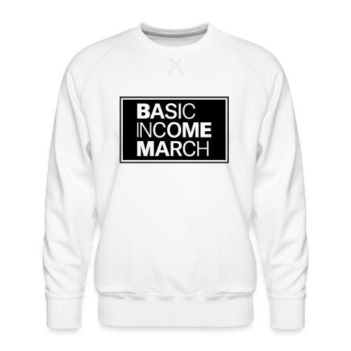 basic income march - Mannen premium sweater