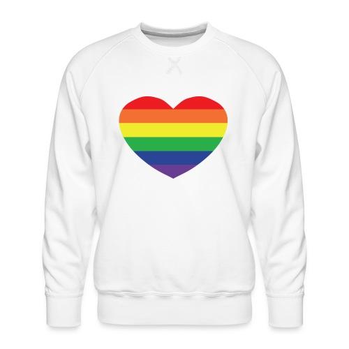 Rainbow heart - Men's Premium Sweatshirt