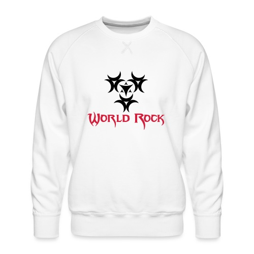 Motif World Rock - Sweat ras-du-cou Premium Homme