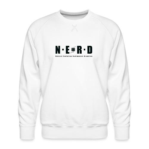 NERD BLACK - Herre premium sweatshirt