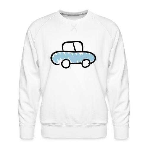 Car Line Drawing Pixellamb - Männer Premium Pullover
