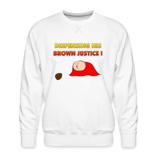 Flying Bum (diagonal) - with text - Men's Premium Sweatshirt