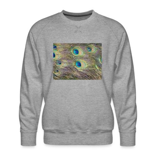Peacock feathers - Miesten premium-collegepaita