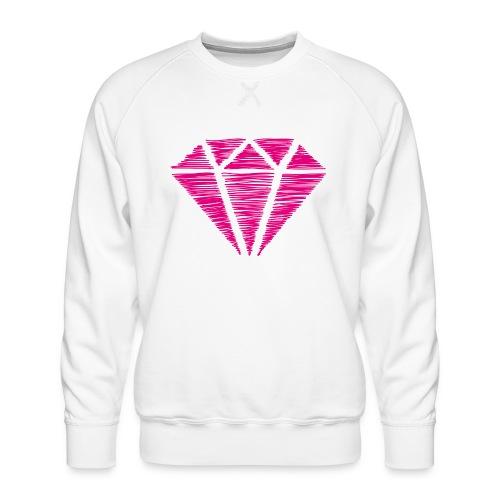 Diamante rosa - Sudadera premium para hombre