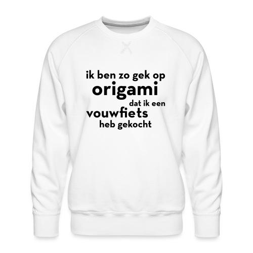 Origami - Vouwfiets - Mannen premium sweater