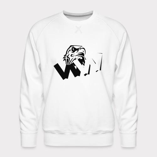 White and Black W with eagle - Men's Premium Sweatshirt
