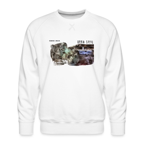 gas mask 2 black - Männer Premium Pullover