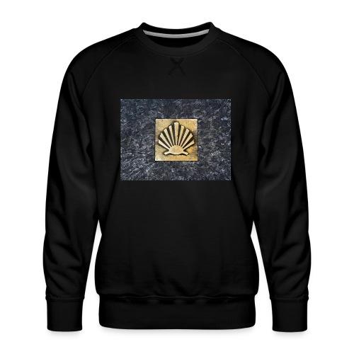 Scallop Shell Camino de Santiago - Men's Premium Sweatshirt