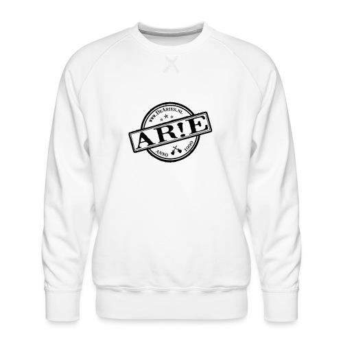 Backdrop AR E stempel zwart gif - Mannen premium sweater