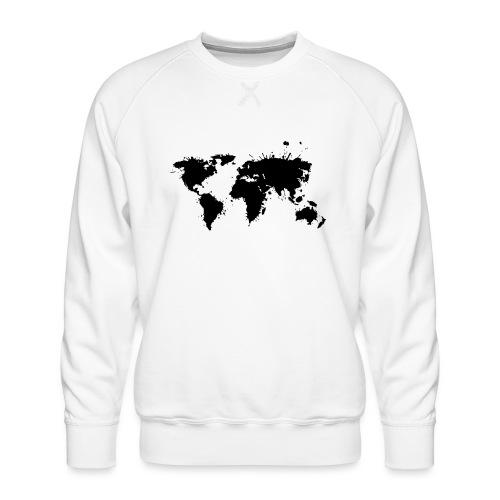 Weltkarte Splash - Männer Premium Pullover