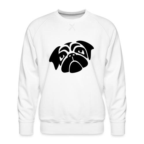 Mops mit schiefen Gesicht - Männer Premium Pullover