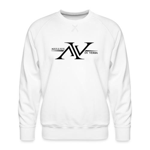 Nullius In Verba Logo - Men's Premium Sweatshirt