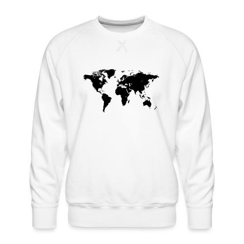 World Map - Männer Premium Pullover