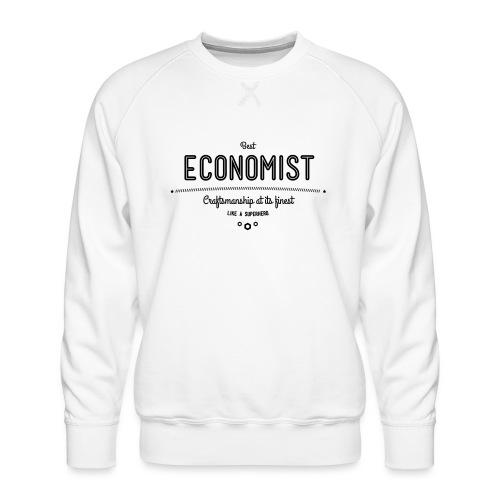 Bester Ökonom - wie ein Superheld - Männer Premium Pullover