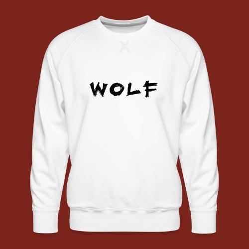 Wolf Font png - Mannen premium sweater