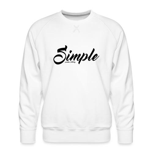 Simple: Clothing Design - Men's Premium Sweatshirt