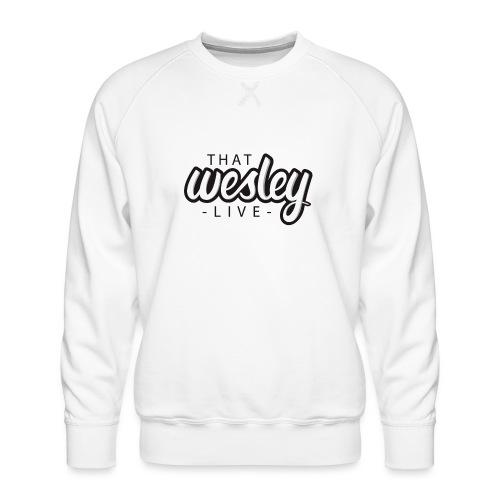 ThatWesleyLOGO 3 4 png - Mannen premium sweater
