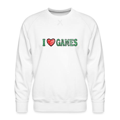 I Love Games - Bluza męska Premium