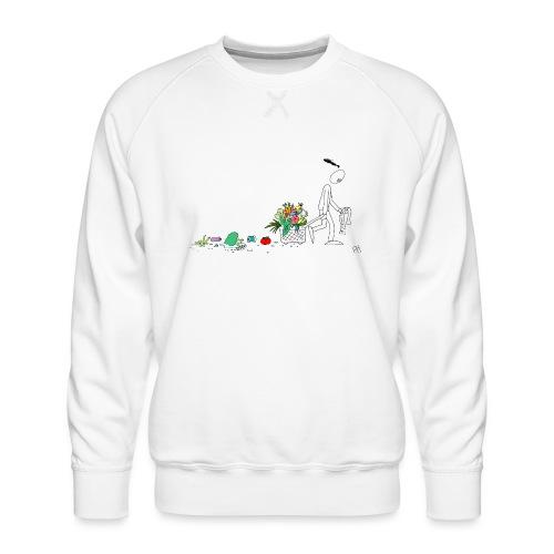 frukt og grønt handleveske - Premium-genser for menn