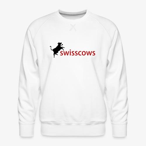 Schwarz-Rot Hoodie - Männer Premium Pullover