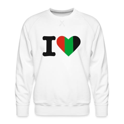 hartjeroodzwartgroen - Mannen premium sweater
