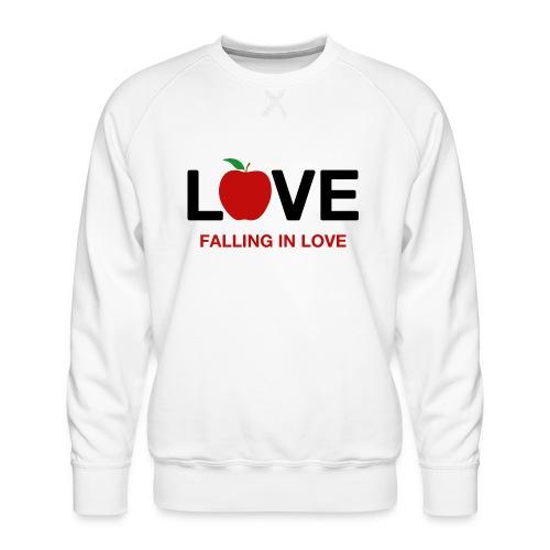 Falling in Love - Black - Men's Premium Sweatshirt